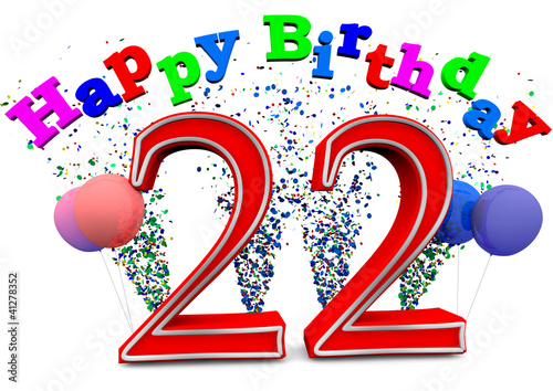 happy birthday 22 stock photo and royalty free images on fotolia