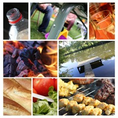 summer barbecue collage