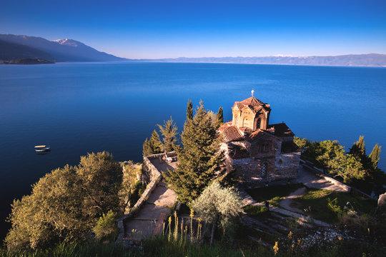 """St.""""Jovan Kaneo"""" Church at Lake Ohrid, Macedonia."""