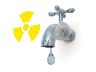 radioactive leak 3d render illustration
