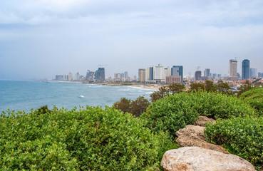 Tel-Aviv beach panorama. Jaffa. Israel.
