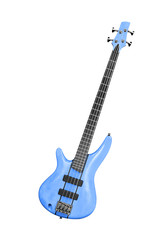 bass guitar with clipping path