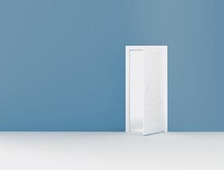 Open door and copy space