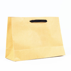 plain paper bag, brown plain paper bag.