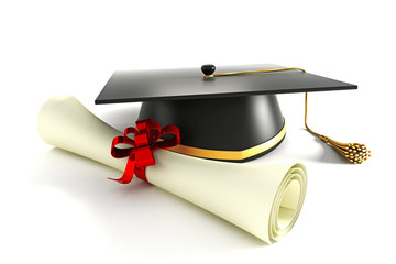Mortar Board with Degree