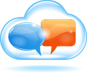 cloud with speech bubble