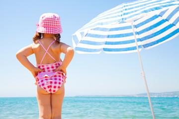 little girl on sea beach