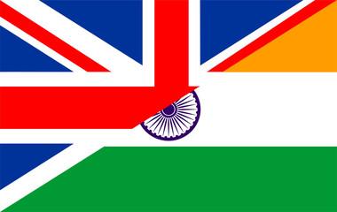 uk india flag