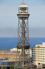 Turm der Hafenseilbahn in Barcelona