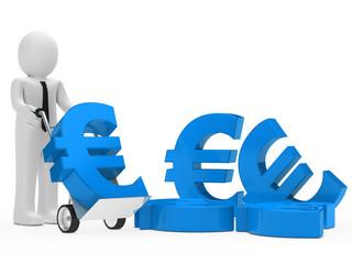 businessman euro sign