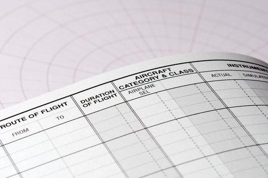 Pilot logbook blank page