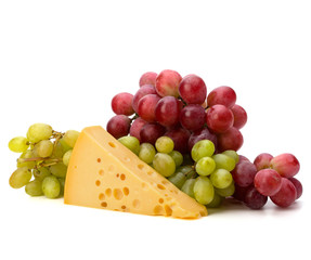 Perfect bunch of grapes and cheese