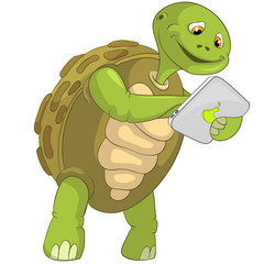 Funny Turtle. Touch Screen.