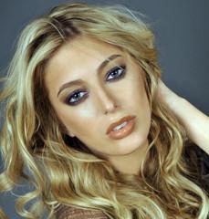 Portrait of exotic beautiful blond equadorian woman