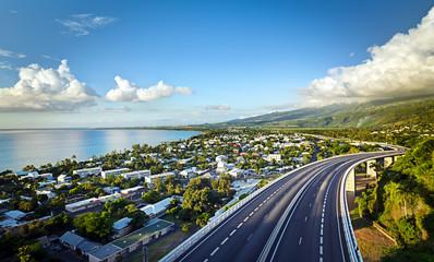 Baie de Saint-Paul au crépuscule - La Réunion Wall mural