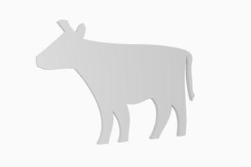 3D-Kuh grau-neutral