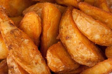 fried potato. Fast food background