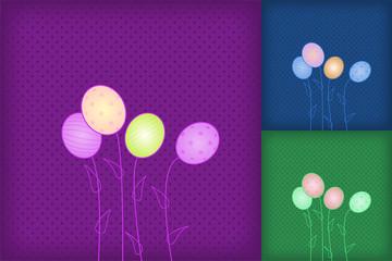 Easter egg background vector eps8