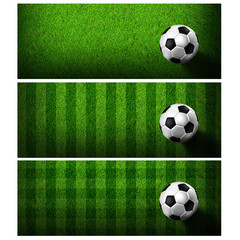 Timeline Cover ( Ratio 851x315 ) - football in green grass