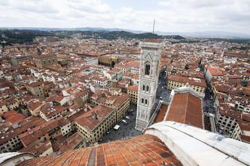 Fototapete - Florence - Campanile vu de la coupole