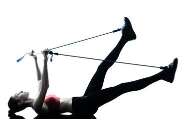 Fototapeten Gymnastik woman exercising gymstick