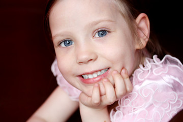Portrait of smiling beautiful little girl