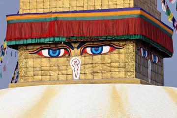 Buddha  eyes on a Boudha Nath (Bodhnath) stupa