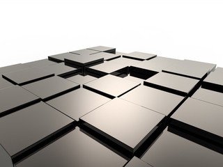 3d abstract black cubic background