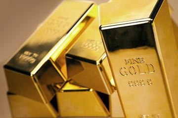 Gold bars photo, studio shots, closeup