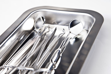Dental equipment, teeth care and control, studio shots
