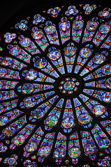 Wall Murals Stained vitraux de notre dame de Paris 1