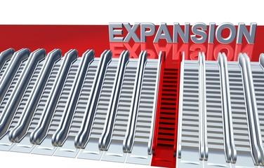 Obraz 3D Rolltreppen - EXPANSION - fototapety do salonu