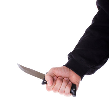 Male with a sharp knife in it's hand