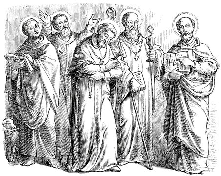Showing various Christian saints