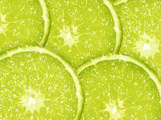 Slice of fresh lime