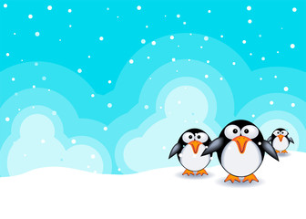 Christmas theme background with baby animals