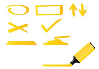 Yellow highlighter