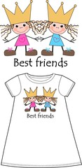 best friends pattern for children wear