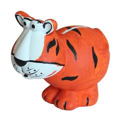 Children's toy tiger moneybox