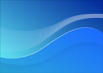 Background Wave Blue