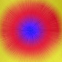 Poster de jardin Psychedelique Multicolored circles and lines