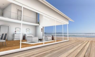 3d Terrasse am Strand