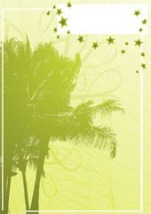 palm banner vector