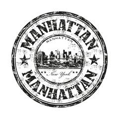 Manhattan grunge rubber stamp