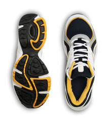 Stylish sports shoe isolated on white background