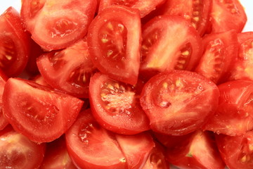 A lot of juicy red tomatoes