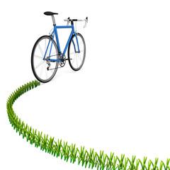 自転車の軌跡