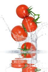Poster Eclaboussures d eau Gemüse 141