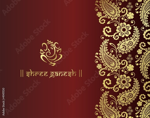 Ganesh Traditional Hindu Wedding Card Design India Fichier