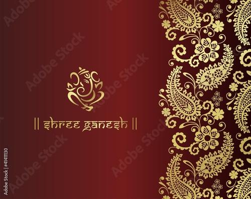 """Ganesh, traditional Hindu wedding card design, India ..."